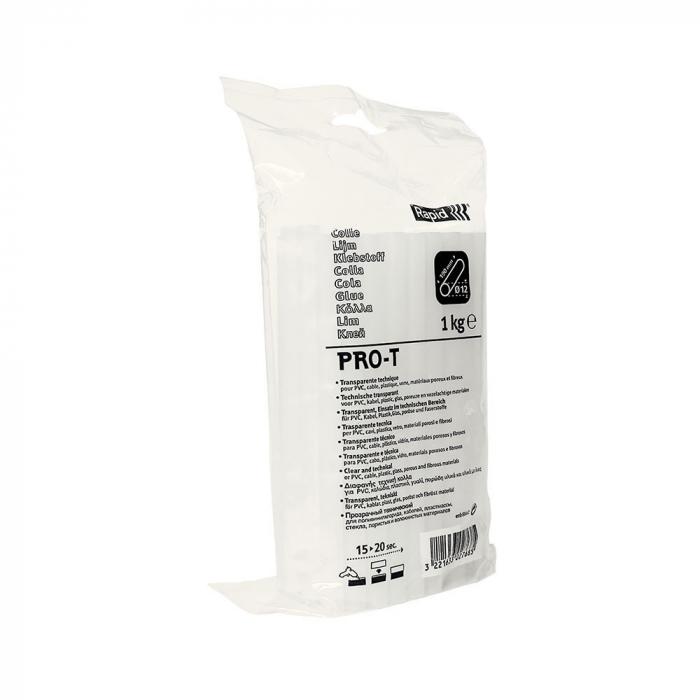 Baton silicon profesional Rapid PRO-T PVC si Cabluri, transparent, Ø12mm x 190mm, baza EVA, 1 kg/pachet 40302768-big