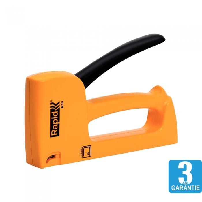 Capsator tacker Rapid R13E, ergonomic, capse 13/4-10 mm, 3 ani garantie, 20443901-big