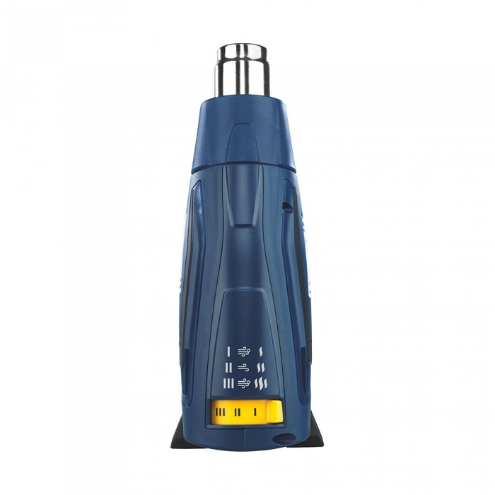 Pistol cu aer cald Rapid R2000, putere 2000 W, debit 450 l/min, reglare debit aer in 3 trepte, temperatura 60°C/600°C, protectie la supra incalzire, 2 ani garantie, 5001342-big