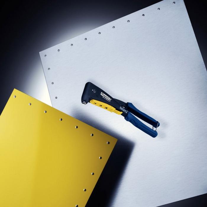 Cleste popnituri Rapid RP40,  Ø3,2/8 mm, Ø4/12 mm, Ø4,8/4 mm, aluminiu/ otel, Kit-big