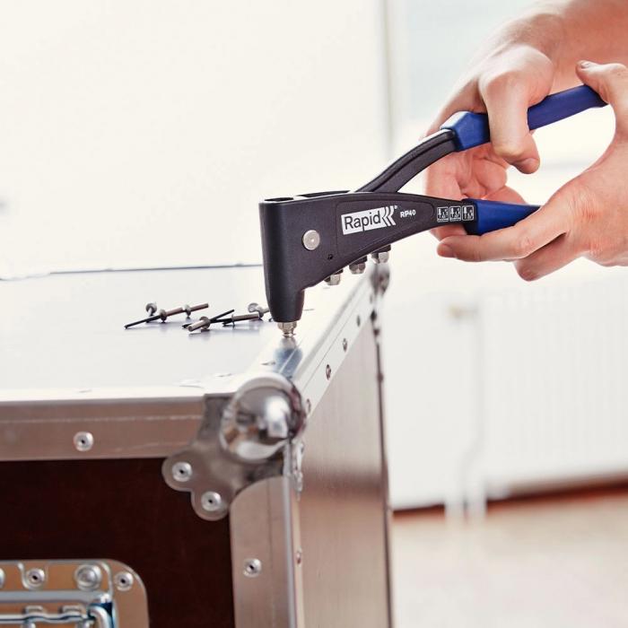 Nituri Rapid otel inoxidabil diametru 3.2mm x 8mm, burghiu metal HSS inclus, 50buc/set, 5000393-big