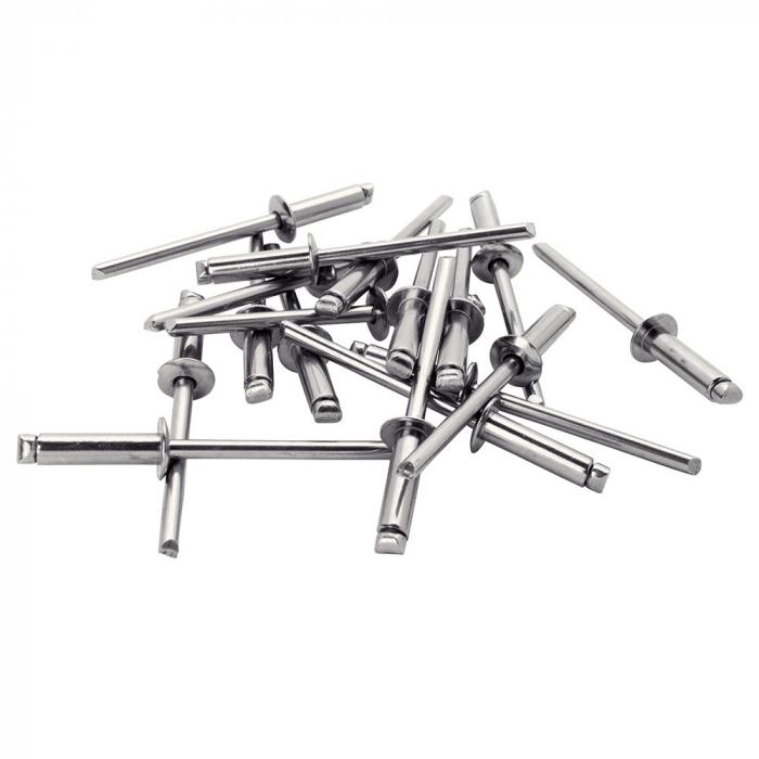 Nituri Rapid otel inoxidabil diametru 4.8mm x 10mm, burghiu metal HSS inclus, 50buc/set, 5000396-big