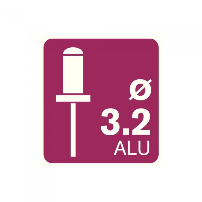 Popnituri Rapid Standard Alu - diametrul de 3.2 x 8 mm, aluminiu, 100 buc/ punga-big