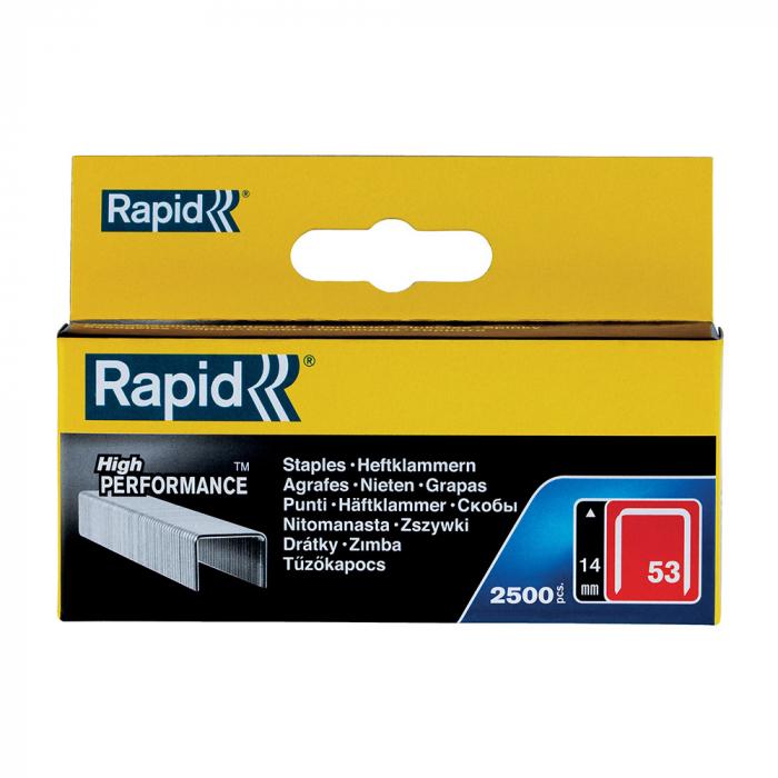 Capse Rapid 53/14, sarma subtire, galvanizate, decoratiuni, 2500/cutie carton 11860425-big