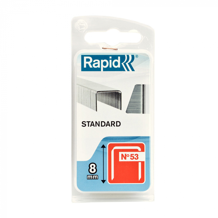 Capse Rapid 53/8 Standard, sarma subtire, decoratiuni, 1080 capse/blister 40109561-big