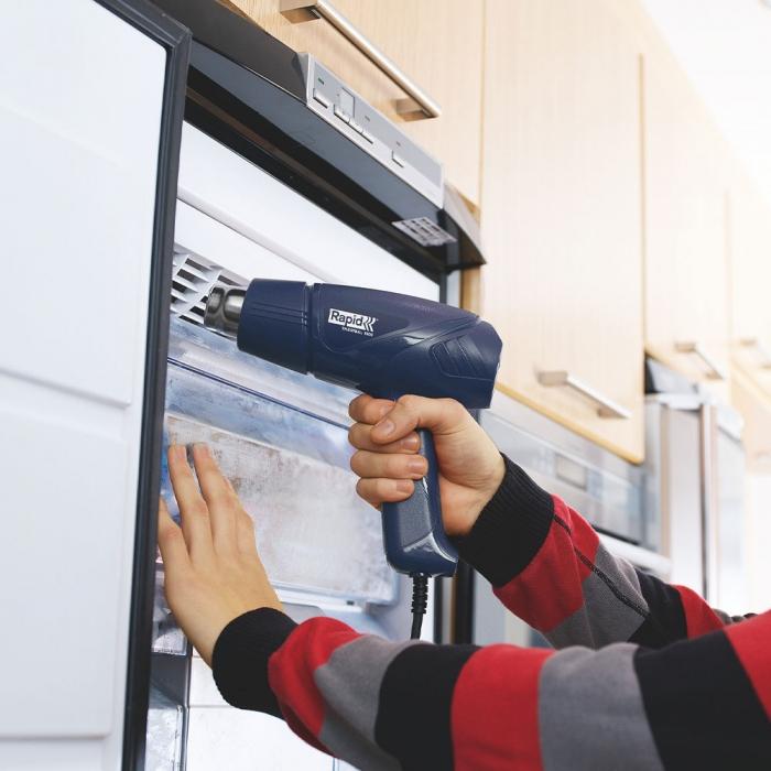 Pistol cu aer cald Rapid Thermal 1600, putere 1600 W, debit 280 l/min, reglare debit aer in 2 trepte, temperatura 60°C/550°C, protectie la supra incalzire, 2 ani garantie 24359800-big
