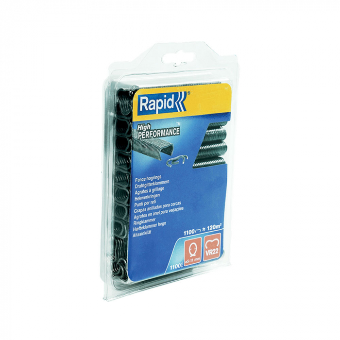 Capse gard Rapid HOG VR22, 5-11 mm, plastifiate gri, 1100 buc/blister-big
