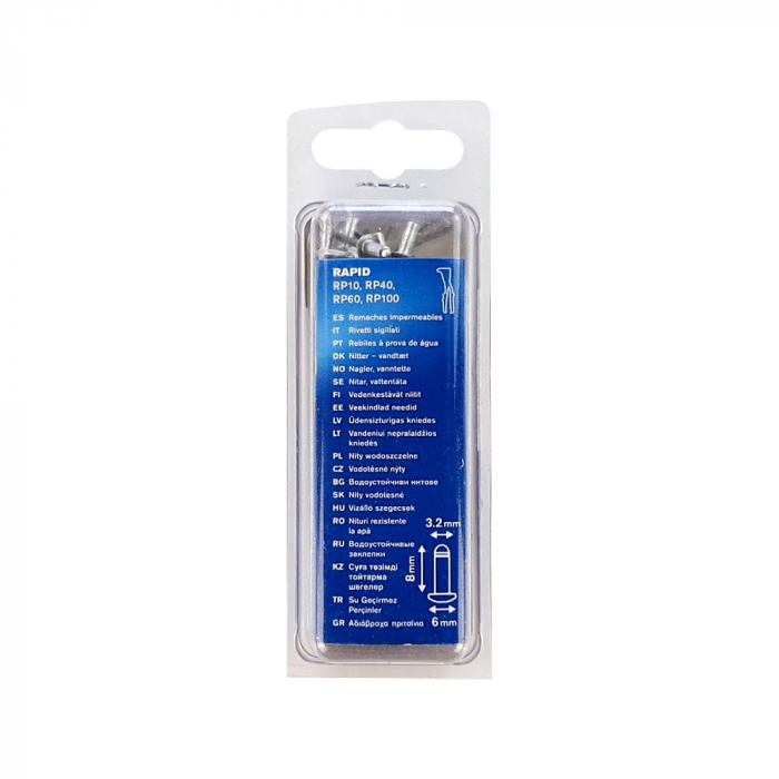 Nituri etansare Rapid diametru 3.2mm x 8mm, aluminiu, burghiu metal HSS inclus, 50 buc/set 5000399-big