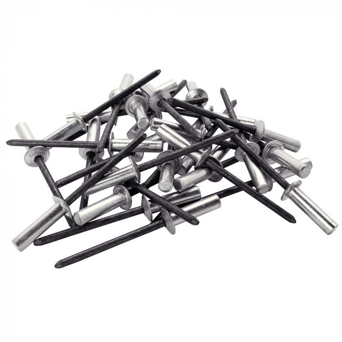 Nituri etansare Rapid diametru 4.8mm x 14mm, aluminiu, burghiu metal HSS inclus, 50 buc/set 5000402-big