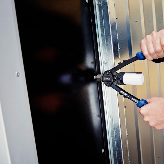 Nituri cu cap larg Rapid diametru 3.2mm x 8mm, aluminiu, burghiu metal HSS inclus, 50 buc/set 5000659-big
