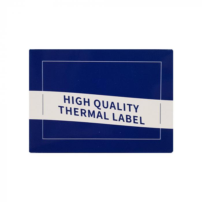 Etichete termice scolare 50 x 30mm LUNA, poliester alb, imprimate cu model LUNA, adeviz permanent, 1 rola, 230 etichete/rola, pentru imprimantele M110 si M200-big