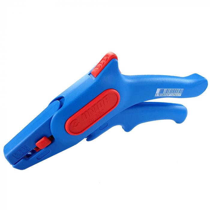 Cleste pentru dezizolat cablu, 380 UNIOR, albastru-rosu,160 mm,  610925-big