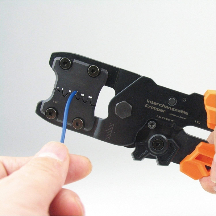 Cleste sertizare multifunctional ultra-precis ENGINNER PAD-13, cap sertizare interschimbabil, 205 mm, fabricat in Japonia-big