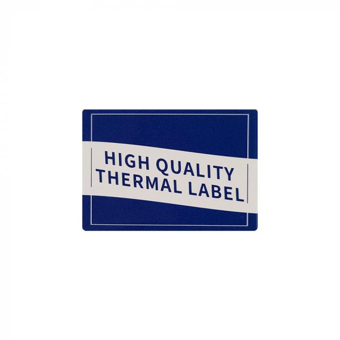 Etichete produs universale fata dubla cu perforatie interioara 50 x 15mm, plastic alb, permanente, 1 rola, 400 etichete/rola, pentru imprimanta M110 si M200-big