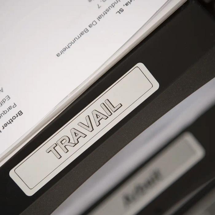 Etichete termice universale compatibile Brother DK-11204, 17mm x 54mm, hartie alba, adeziv permanent, 400 etichete/rola, suport din plastic inclus DK11202-big