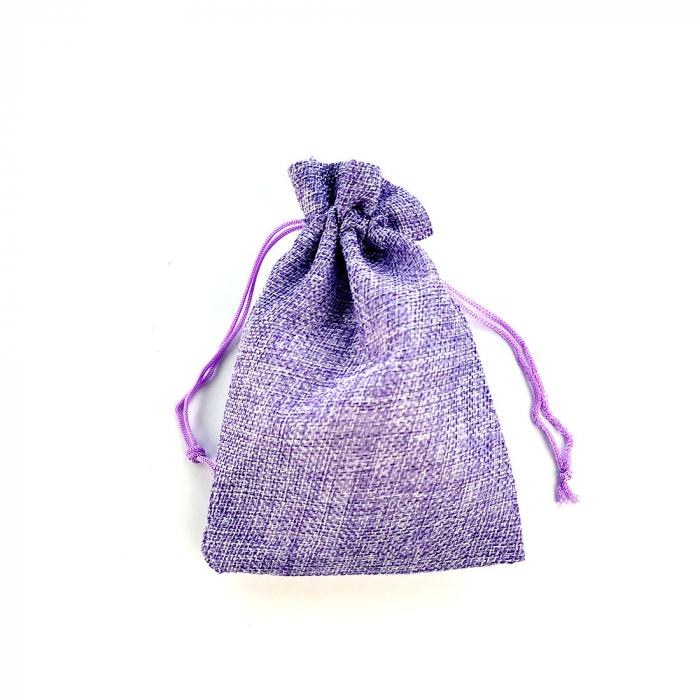 Saculet textil violet 17cm x 11.5cm-big