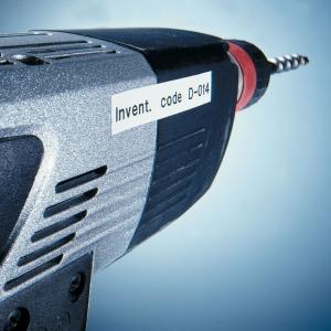 Etichete autocolante plastifiate, DYMO LabelManager D1, 19mm x 7m, negru/alb, 10 buc/set, DY45803 DY20930986