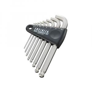 Set chei hexagonale cu cap tip bila magnetizat Engineer, timp imbus, unghi de lucru 30⁰, nichelate in camp electrostatic, brat lungime standard, uz general, 8 chei/set, fabricat in Japonia0
