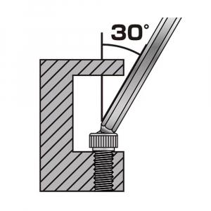 Set chei hexagonale cu cap tip bila magnetizat Engineer, timp imbus, unghi de lucru 30⁰, nichelate in camp electrostatic, brat lungime standard, uz general, 8 chei/set, fabricat in Japonia6