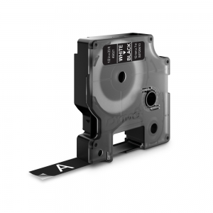 Etichete autocolante, DYMO LabelManager D1, 12mm x 7m, alb/negru, 45021 S07206101