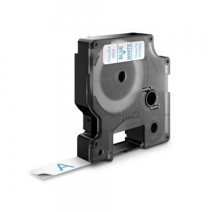 Etichete autocolante, DYMO LabelManager D1, 12mm x 7m, albastru/alb, 45014 S07205401