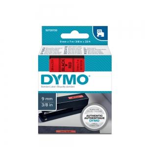Etichete autocolante, DYMO LabelManager D1, 9mm x 7m, negru/rosu, 40917, S07207204