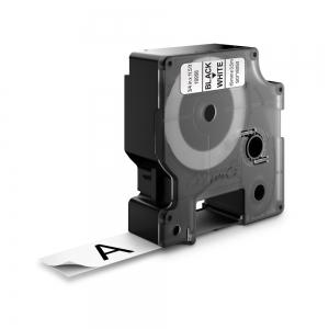 Etichete autocolante, DYMO LabelManager D1, nailon flexibil, 19mm x 3.5m, negru/alb, 16958 S07180501