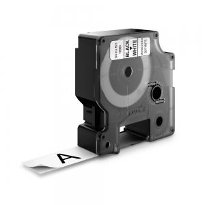 Etichete autocolante, DYMO LabelManager D1, poliester permanent, 19mm x 5.5m, negru/alb, 16960 S07180701