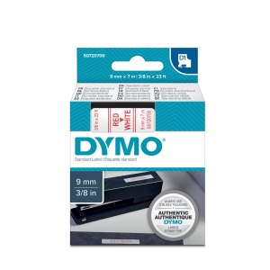 DYMO LabelManager D1 labels, 9mm x 7m, red on white, 40915, S07207004