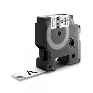 Etichete industriale autocolante, DYMO ID1, nailon flexibil, 19mm x 3.5m, negru/alb, 18489 S07181201