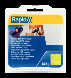 Batoane lipici Rapid Ø12mmx94mm, PVC/Cabluri, 125g, blister3