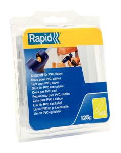 Batoane lipici Rapid Ø12mmx94mm, PVC/Cabluri, 125g, blister0
