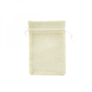 Saculet textil bej 17cm x 11.5cm0