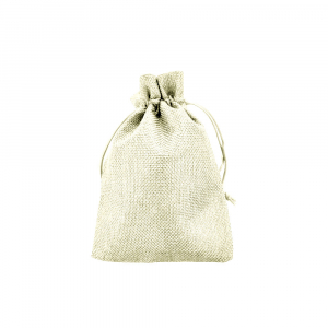Saculet textil bej 17cm x 11.5cm1