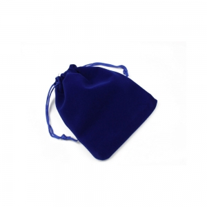 Blue Velvet Pouches with Drawstring for Jewelry Gift Bags 12 x 14 cm