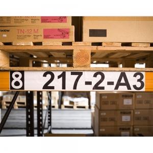 Etichete termice autocolante compatibile, Brother DK-22243, hartie alba, modul continuu, 102mmx30.48m, suport din plastic inclus DK22243-C1