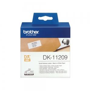 Etichete termice autocolante compatibile, Brother DK-22209, hartie alba, 29mmx62mm, 800 etich/rola, DK22209-C2