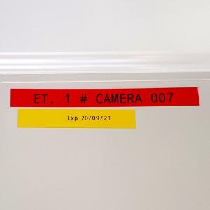 Brother TZE621 etichete originale laminate 9mm x 8m, negru pe galben, P-Touch TZe-6214