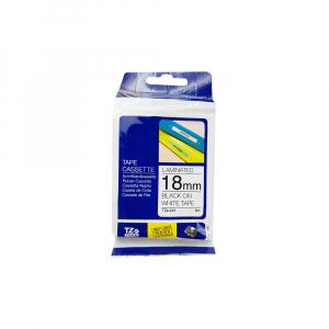 Brother TZE241 etichete originale laminate 18mm x 8m, negru pe alb, P-Touch TZe-2415