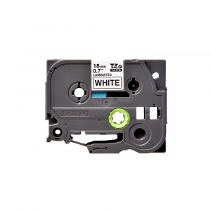 Brother TZE241 etichete originale laminate 18mm x 8m, negru pe alb, P-Touch TZe-2410