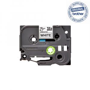 Brother TZE241 etichete originale laminate 18mm x 8m, negru pe alb, P-Touch TZe-2411
