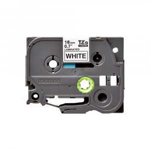 Brother TZE241 etichete originale laminate 18mm x 8m, negru pe alb, P-Touch TZe-2413