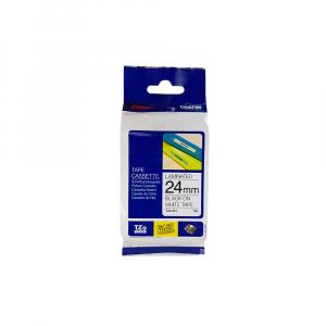 Brother TZE251 etichete originale laminate 24mm x 8m, negru pe alb, P-Touch TZe-2515