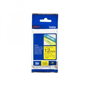 Brother TZE631 etichete originale laminate 12mm x 8m, negru pe galben, P-Touch TZe-6318