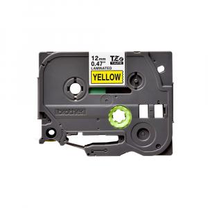 Brother TZE631 etichete originale laminate 12mm x 8m, negru pe galben, P-Touch TZe-6310