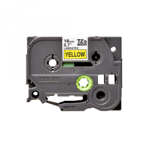 Brother TZE641 etichete originale laminate 18mm x 8m, negru pe galben, P-Touch TZe-6410