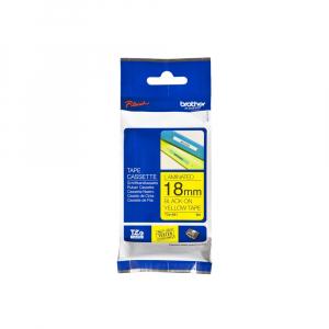 Brother TZE641 etichete originale laminate 18mm x 8m, negru pe galben, P-Touch TZe-6418