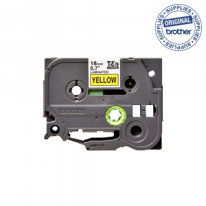 Brother TZE641 etichete originale laminate 18mm x 8m, negru pe galben, P-Touch TZe-6411