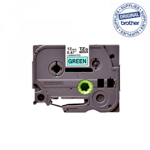 Brother TZE731 etichete originale laminate 12mm x 8m, negru pe verde, P-Touch TZe-7311
