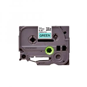 Brother TZE731 etichete originale laminate 12mm x 8m, negru pe verde, P-Touch TZe-7310